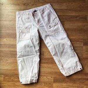GAP Pink Cargo Capri pants